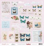 Single-sided Paper Set Butterflies - Happiness (12*12–190GSM), 10 Sheet Pack
