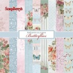 Paper Collection Set Butterflies (6*6–190GSM), 24 Single Sided Sheet Pack