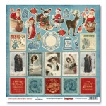 One-sided paper 12x12 That Special Time of Year Santa 190gsm (10 sheets per pack)
