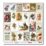One-sided paper 12x12 The Romance of Xmas Lets Make Xmas Cards 2 190gsm (10 sheets per pack)
