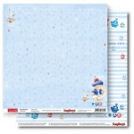 Double-sided Paper Set My Little Star - Little Sailor (12*12–190GSM), 10 Sheet Pack