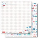 Double-sided Paper Set My Little Star - Beep Beep (12*12–190GSM), 10 Sheet Pack