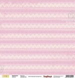 Double-sided Paper Set Sweet Dreams - Wavy Pink (12*12–190GSM), 10 Sheet Pack