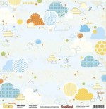 Double-sided Paper Set Sweet Dreams - Pretty Balloons (12*12–190GSM), 10 Sheet Pack