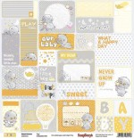 Single-sided Paper Set Sweet Dreams - Tags (12*12–190GSM), 10 Sheet Pack
