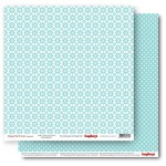 Double-sided Paper Set Elegantly Simple (Daisy Chains) Limpet Shell (12*12–190GSM), 10 Sheet Pack
