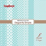 Paper Collection Set Elegantly Simple – Limpet Shell (6*6-190GSM), 8 Single Sided Sheet Pack