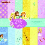 Paper Collection Set Young and Free (6*6-170GSM) 12 Single Sided Sheet Pack