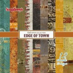 Paper Collection Set Edge of Town (6*6-190GSM), 12 Single Sided Sheet Pack