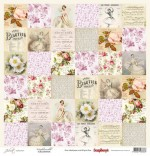 Single-sided Paper Set (12*12-190GSM) Juliet - Mademoiselle , 1 Sheet