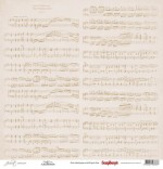 Single-sided Paper Set (12*12-190GSM) Juliet - Notation , 1 Sheet