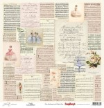 Single-sided Paper Set (12*12-190GSM) Juliet - Poetry , 1 Sheet