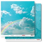 Double-sided Paper Set It's A Wonderful Life - Wish Upon A Rainbow , 1 Sheet