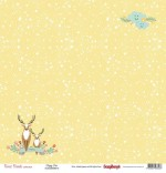 Single-sided Paper Set (12*12-190GSM) Forest Friends - Happy Deer , 1 Sheet