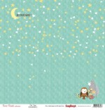 Single-sided Paper Set (12*12-190GSM) Forest Friends - Twit Twoo , 1 Sheet