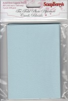 Tri-fold cards A6, 300gsm BLUE, 5 cards without envelopes, pack