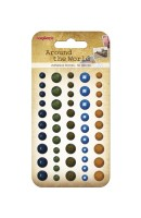 Adhesive gems faceted 50pcs/5colors Around the World 1