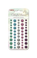Adhesive gems faceted 50pcs/5colors Colorful Dreams 2