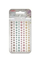 Adhesive pearls 120pcs/4 colors, French Journey