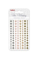 Adhesive pearls 120pcs/4 colors, For Wedding 1