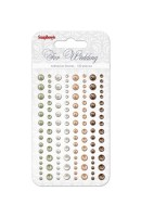 Adhesive pearls 120pcs/4 colors, For Wedding 2