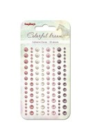 Adhesive pearls 120pcs/4 colors, Colorful Dreams 2