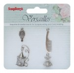 Metal charms set Versailles, 4 pcs