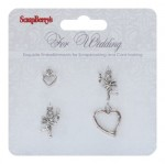 Metal charms set For Wedding, 4 pcs