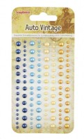 Adhesive pearls 120pcs/4 colors, Auto Vintage