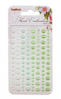 Adhesive pearls 120pcs/4 colors, Floral Embroidery 1