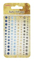 Adhesive gems 120pcs/4 colors, Auto Vintage