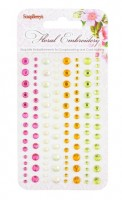Adhesive gems 120pcs/4 colors, Floral Embroidery 2