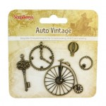 Metal charms set Auto Vintage