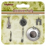 Metal charms set Discover Italy