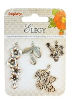 Metal charms set Elegy 1
