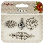 Metal charms set Elegy 2