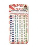 Adhesive pearls 120pcs/4 colors, Vintage Circus 2