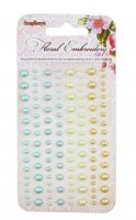 Adhesive pearls 120pcs/4 colors, Floral Embroidery 3