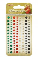 Adhesive gems 120pcs/4 colors, Christmas Carol