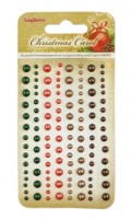 Adhesive pearls 120pcs/4 colors, Christmas Carol