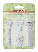 Set of polymer items Discover Italy. Columns JH-13B5966