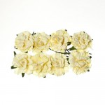 Paper Flowers - Curly Rose – Cream White (8 Pieces Per Pack)