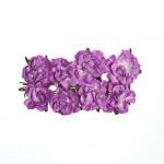 Paper Flowers - Curly Rose – Lilac (8 Pieces Per Pack)