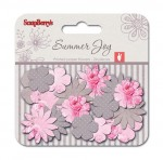 Paper printed blossoms Summer Joy, Peones 24 pcs
