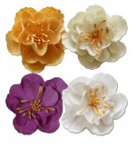 Set of decorative flowers, Spring Holiday, 5cm, 4 pieces