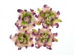 Gardenia 5cm 4 pcs in a pack PURPLE & GREEN