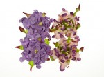 Gardenia 5cm 4 pcs in a pack LIGHT PURPLE/PURPLE&GREEN