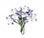Stemmed Lily 10 pcs in a pack WHITE&BLUE