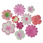 Mini-flowers set, pink