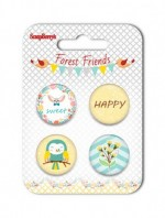 Set of embellishments №3 Forest Friends
